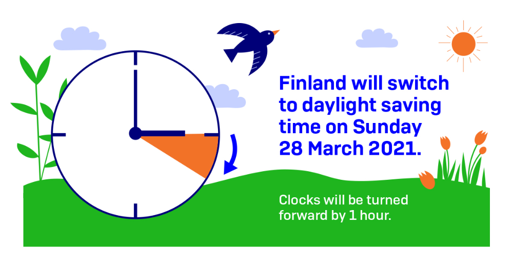 Picture of a clock, we will switch to Daylight saving time on Sunday 28 March 2021 (picture: Ministry of Transport and Communications)
