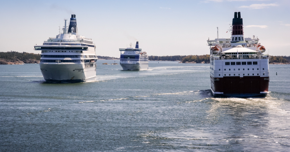 Ferries in the Baltic Sea