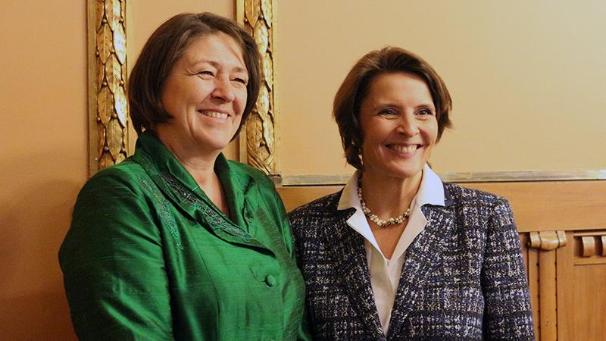 Commissioner Bulc and Minister Berner (Photo: Ministry of Transport and Communications)