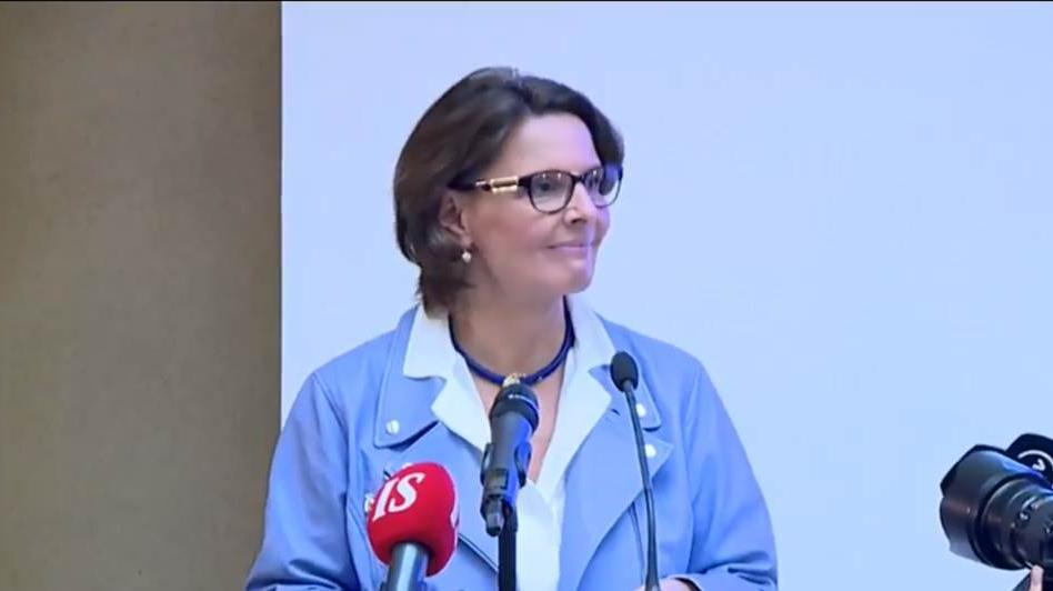 Minister Anne Berner 19.1.2017 (Photo: LVM)