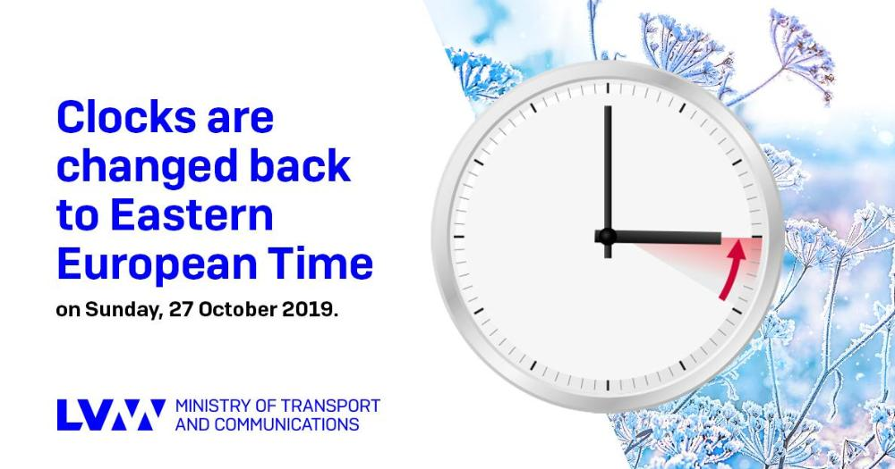 Clocks will be changed back by one hour 27 Oct at 4.00 in the morning (Photo: Ministry of Transport and Communications)