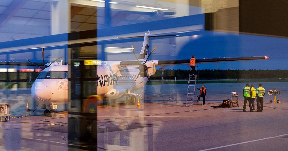The aircraft is being prepared for departure at Kemi Airport. (Photo: Shutterstock)