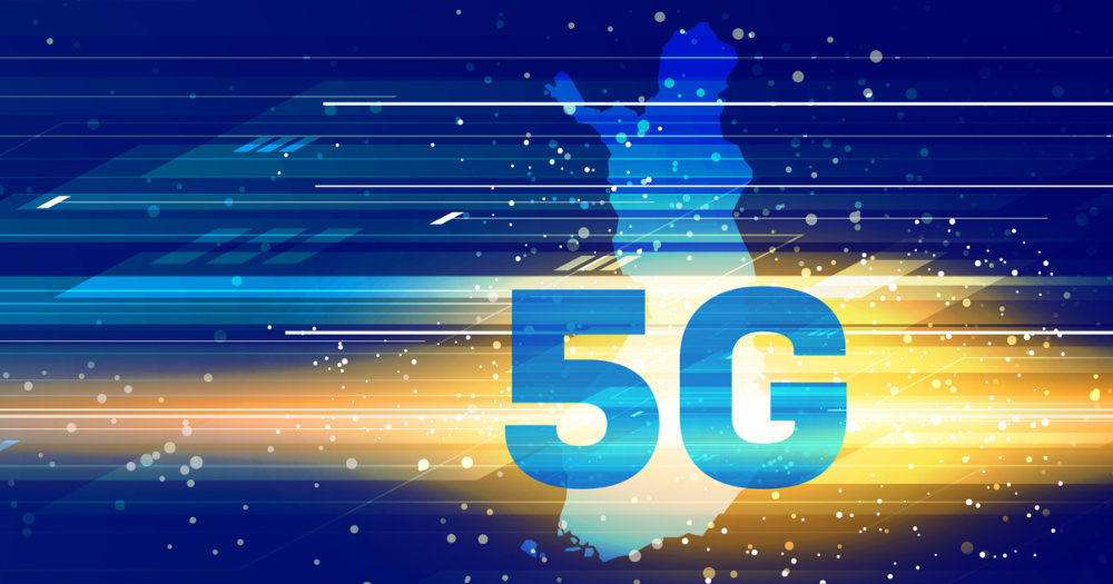 5G and map of Finland. (Picture: Ministry of Transport and Communications)