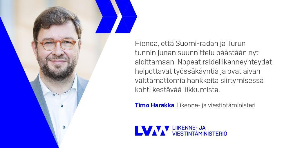 Minister of Transport and Communications Timo Harakka